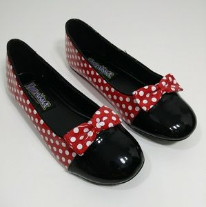 🔶 3/$20 NWT Funtasma Minnie Mouse flat shoes
